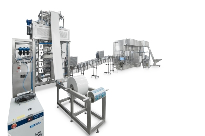 Two of Serac's Agami machines are in commercial production in Europe thermoforming bottles in four cavities out of PP and PS sheet for portion yogurt drinks. In the first station, sheet is made into tubes, which are blown into bottles. In the second station bottles are filled and sealed.