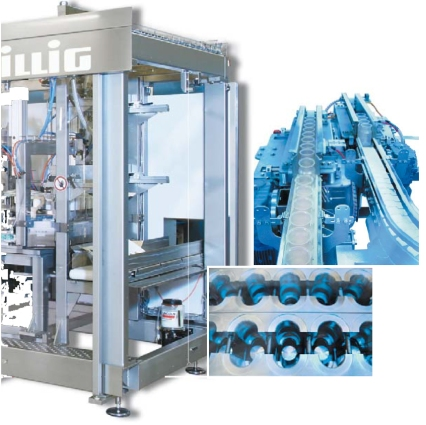 "In 2008 Illig in Germany launched a thermoforming machine for bottles as well as cups, now called ""open mold"" forming. It combines vacuum forming, pressured air, plug assist and steep undercuts for bottle necks. Illig is in discussions with customers, but hasn't sold it commercially."