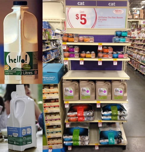 Four years ago two startup companies, GreenBottle in the U.K. and Ecologic in California, market tested paper milk bottles for a U.K. Walmart subsidiary and Wholefoods respectively. Today paper bottles carry wine, detergent, and kitty litter to mass markets.